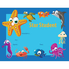 Star Student Certificates Star Student Certificate 30 Pk Under The Sea