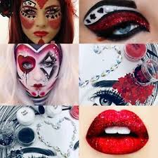 image is loading set queen of hearts costume glitter makeup