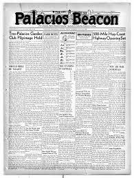 Palacios Beacon (Palacios, Tex.), Vol. 32, No. 30, Ed. 1 Thursday, July 27,  1939 - Page 1 of 8 - The Portal to Texas History