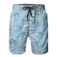 Amazon Com Gamsjm Pants Blue Dump Truck Men Swim Beach