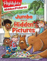 60 page downloadable pdf book containing 50 hidden objects puzzles in easy to medium difficulty levels. Jumbo Book Of Hidden Pictures Highlights Jumbo Books Pads Highlights 9781629798264 Amazon Com Books