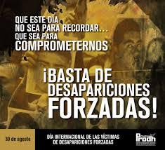 Resultado de imagen para 30 día internacional del detenido desaparecido
