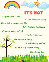 Useful Phrases Describing The Weather In English Ingles