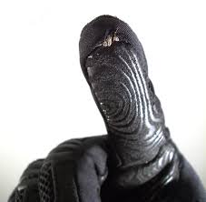 conductive thread on glove
