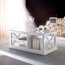 halifax white coffee table with shelves and criss cross sides for white coffee table