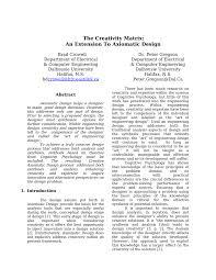 Design Axioms Pdf The Creativity Matrix An Extension To Axiomatic Design