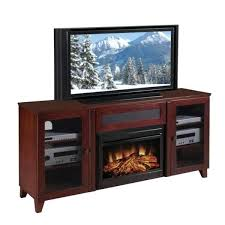 cherry electric fireplaces shaker inch dark cherry console and electric fireplace memphis infrared electric fireplace entertainment