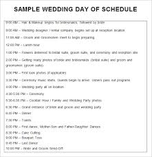 30 Wedding Schedule Templates Samples Doc Pdf Psd