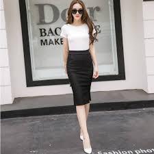 <b>New Fashion Elegant</b> Women Midi Slim Skirt Open Slit Knee Length ...