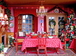 victorian dining room and living room bo blukatkraft dollhouse miniatures christmas room box 1 12 scale bl 112 dollhouse miniature