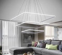 light fixtures for living rooms inspirational royal pearl modern square led chandelier adjule hanging light