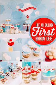 Decorations Boxes Toys Rainbow Uniqe Hot Air Balloon Party Favors Carried  Away Colored Up Up Chevron Fluffy Clouds Colourful Cake Cookies