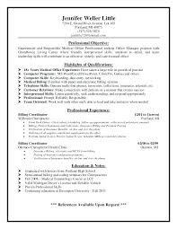 Perfect Decoration Medical Billing Resume Objective Medical Billing