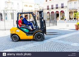 Forklift Truck Driving Forklift Truck Using Forklift Truck Side