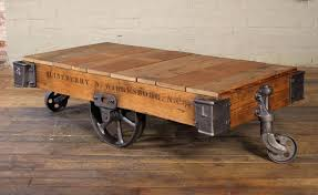 industrial trolley coffee table decor target iron and glass wa
