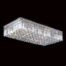 w33530c24 cascade 6 light chrome finish and clear crystal flush throughout mount chandelier design 19