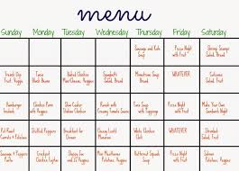 one week menu planner blank meal planner meal plan template weekly meal planner free
