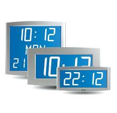 digital office wall clocks digital. Backlit Lcd Clock For Indoor Use Opalys Digital Office Clocks Uk Wall G