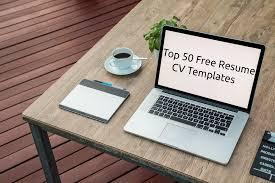 Top 50 Free Resume Cv Templates Templatemonstercom Medium