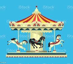 놀이 공원 회전목마 Carnival에 대한 스톡 벡터 아트 및 기타 이미지 - iStock