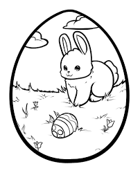 Printable easter bunny egg coloring pages - Kids Coloring Pages