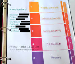 Yearly House Maintenance Learning To Be Organized Home Maintenance Binder First