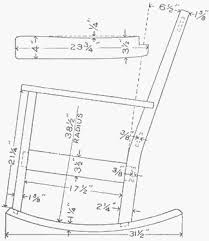 rocking chair drawing. Rocking Chair Dimensions Drawing