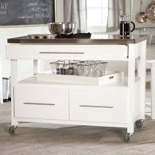 Small Mobile Kitchen Island White Gloss Storage Pantry Rectangle