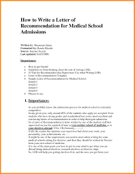 Letter Of Reccomendation Templates Medical School Letter Ofmendation Example Sample For From