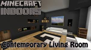 Minecraft Living Room Furniture Contemporary Living Room Minecraft Indoors Interior Design Youtube