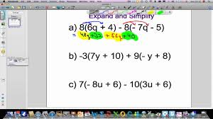 expand and simplify expressions