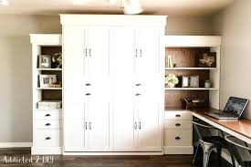 murphy bed office desk. Murphy Bed Office Desk For White Modern Farmhouse And Bookcase Featuring Inspirations