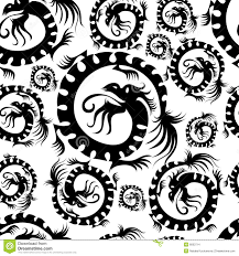 Dragon Pattern Inspiration Seamless Dragon Pattern Stock Vector Illustration Of Style 48