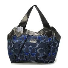 Best Style Coach Legacy Logo In Signature Medium Navy Hobo Bpm Outlet 0pUe9