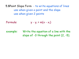 point slope form rm easilearn us