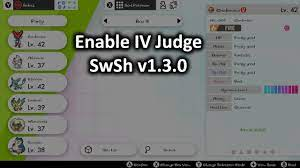 Enable IV Judge (Sword & Shield 1.3.0) [Pokemon Sword & Shield] [Mods]