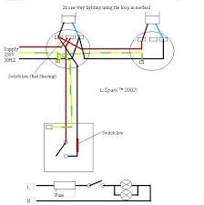 electrics single way lighting 2 lights on one switch using loop in method