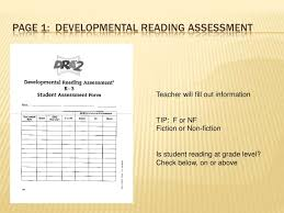 Developmental Reading Assessment Sample Administering The Dra 2 Diagnostic Reading Assessment
