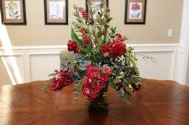 ... Lovely Silk Flower Arrangements For Dining Room Table : Classy Silk Flower  Centerpiece Decoration In The ...