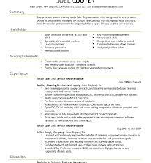 Inside Sales Resume Sales Representative Resume Sales Representative