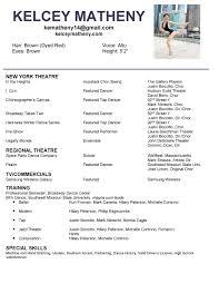 Choreographer Resume Resume Resume Education Section Example 15