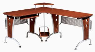 contemporary wood office furniture. Black Polished Wooden L Shaped Computer Desk Contemporary Wood Office Furniture