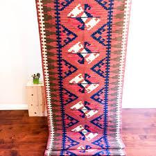 G Vintage Kilim Rug Runner Hallway Kilim Bedroom  Hallway Colorful Aztec