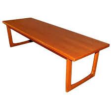 teak coffee table f wood round danish vintage