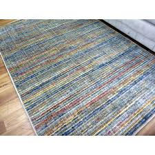 10mm thick modern brightly coloured stripes design grey floor area rugs