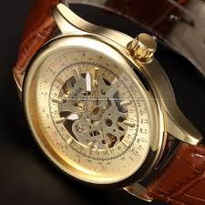 aliexpress com buy sewor new leather skeleton gold watch men aliexpress com buy sewor new leather skeleton gold watch men luxury brand automatic montre homme wrist watch for men designer watches luxury watch from