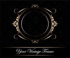 vintage gold frame backdrop design