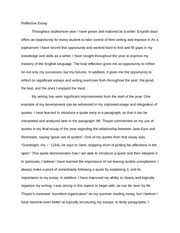 all quiet on the western front reflection essay all quiet on the 2 pages sophomore year reflective essay