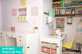 Office craftroom tour Garage Making Dream Craft Room In Small Space Redagape Sew Can Do Making Dream Craft Room In Small Space