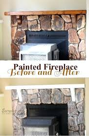 paint rock fireplace remember when i painted my bathroom cupboards well i painted my stone fireplace paint rock fireplace